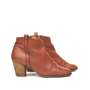 Madewell | billie brown pebbled leather boots